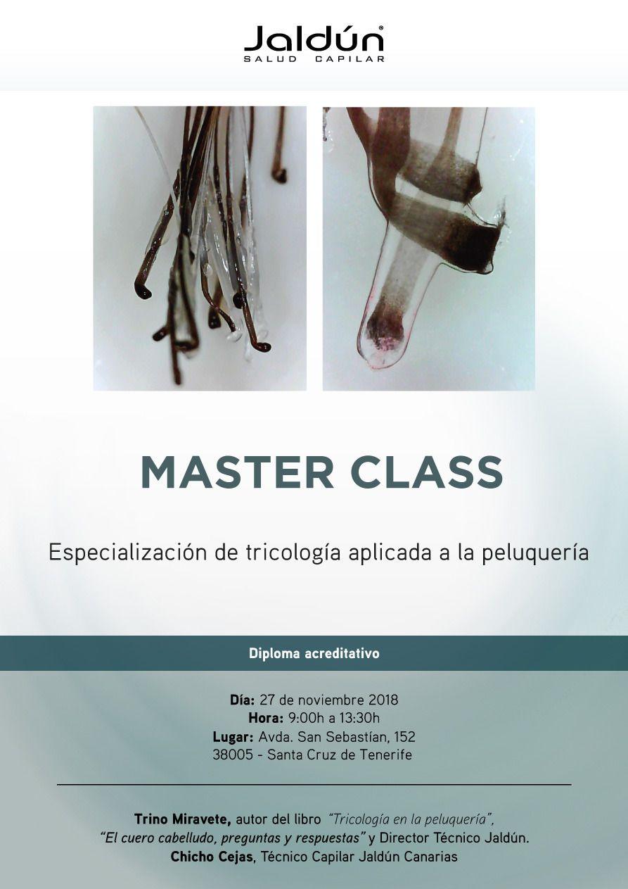 Masterclass de Especialización de Tricología aplicada a la Peluquería